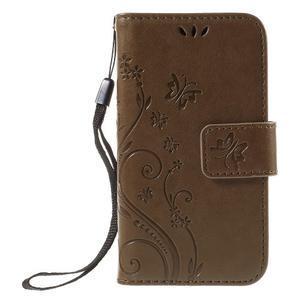Butterfly puzdro pre mobil Samsung Galaxy Trend 2 Lite - coffee - 3