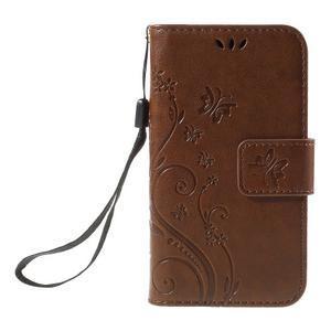 Butterfly puzdro pre mobil Samsung Galaxy Trend 2 Lite - hnedé - 3