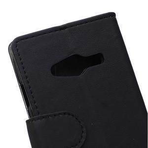 Wall peňaženkové puzdro pre Samsung Galaxy Trend 2 Lite - čierne - 3