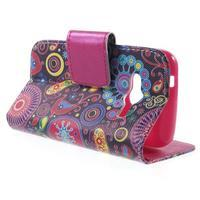 Peňaženkové puzdro pre Samsung Galaxy Trend 2 Lite - farebné kruhy - 3/7