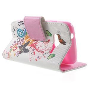 Peňaženkové puzdro pre Samsung Galaxy Trend 2 Lite - motýle - 3