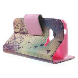Peňaženkové puzdro pre Samsung Galaxy Trend 2 Lite - vtáčiky - 3