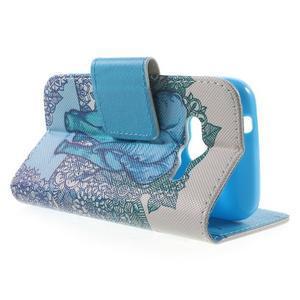 Peňaženkové puzdro pre Samsung Galaxy Trend 2 Lite - modrý slon - 3