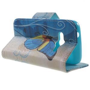 Motive pouzdro na mobil Samsung Galaxy Trend 2 Lite - modrý motýl - 3
