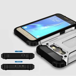 Armory odolný obal pre mobil Samsung Galaxy J1 (2016) - strieborny - 3