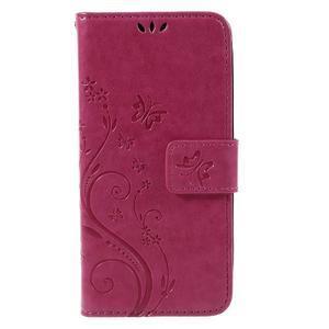 Butterfly koženkové puzdro na Microsoft Lumia 550 - rose - 3