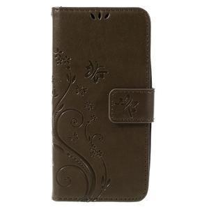 Butterfly koženkové puzdro na Microsoft Lumia 550 - hnedé - 3