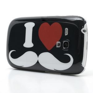 Plastový obal pre Samsung Galaxy S3 mini - I love Moustache - 3