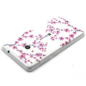 Gélový obal na mobil Microsoft Lumia 535 - květy švestky - 3