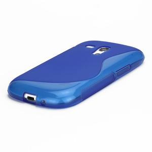 Modré gélové puzdro pre Samsung Galaxy S3 mini /i8190 - 3