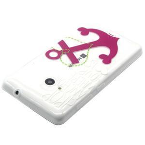 Gélový obal na mobil Microsoft Lumia 535 - kotva - 3