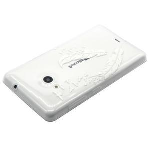Gélový obal na mobil Microsoft Lumia 535 - ptačí pírka - 3