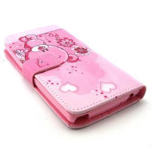 Peneženkové puzdro na mobil LG G4c - medvídek - 3