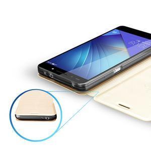 Elegantní PU kožené puzdro na mobil Huawei Honor 7 - gold - 3