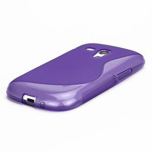 Fialové gélové puzdro pre Samsung Galaxy S3 mini /i8190 - 3