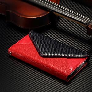 Breck peňaženkové puzdro na Samsung Galaxy S6 - červené/čierné - 3