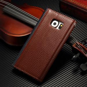 Breck peňaženkové puzdro na Samsung Galaxy S6 - hnedé/čierné - 3