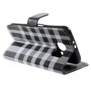 Módní štýlové puzdro na Samsung Galaxy S6 - čierné - 3