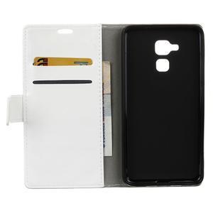 Horse PU kožené pouzdro na mobil Honor 7 Lite - bílé - 3