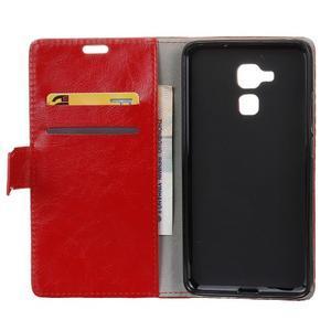 Horse PU kožené pouzdro na mobil Honor 7 Lite - červené - 3