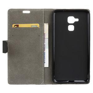 Peněženkové PU kožené pouzdro na mobil Honor 7 Lite - černé - 3