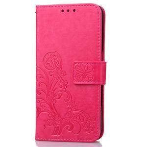 Buttefly PU kožené puzdro pre mobil Honor 7 Lite  - rose - 3