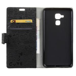 Cartoo pouzdro na mobil Honor 7 Lite - černé - 3
