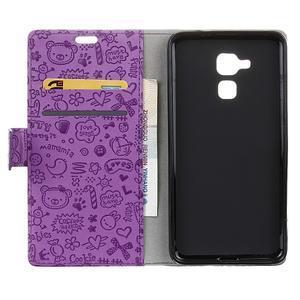 Cartoo pouzdro na mobil Honor 7 Lite - fialové - 3
