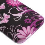 Gélový kryt na HTC One mini 2 - květiny a motýlci - 3/5
