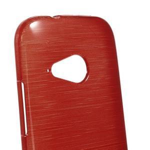 Broušený gélový obal na HTC One mini 2 - červený - 3