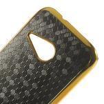 Plastový kryt se zlatým lemem pre HTC One mini 2 - čierny - 3/5