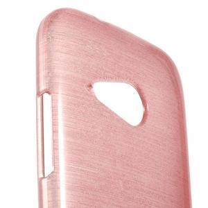 Broušený gélový obal pre HTC One mini 2 - ružový - 3