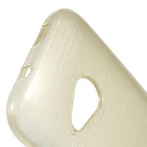 Broušený gélový obal pre HTC One mini 2 - champagne - 3
