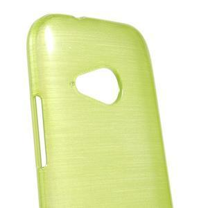 Broušený gélový obal pre HTC One mini 2 - zelený - 3