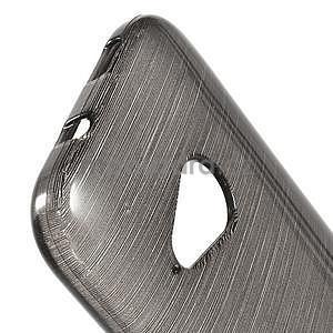 Broušený gélový obal na HTC One mini 2 - čierny - 3