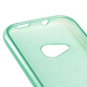 Broušený gélový obal pre HTC One mini 2 - cyan - 3