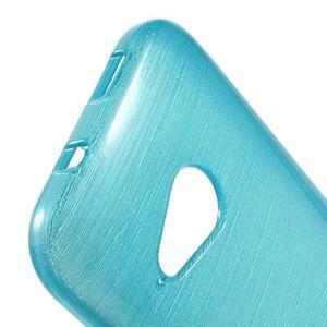 Broušený gélový obal pre HTC One mini 2 - svetlo modrý - 3