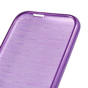 Broušený gélový obal na HTC One mini 2 - fialový - 3