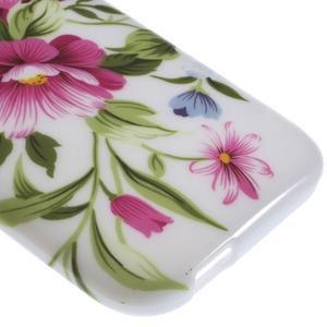 Gélový kryt na HTC One mini 2 - květiny - 3
