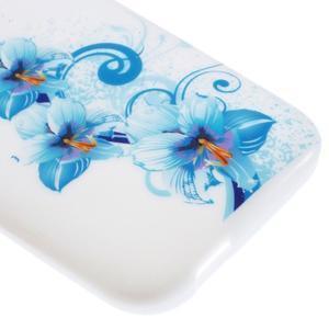 Gélový kryt na HTC One mini 2 - modrá lilie - 3