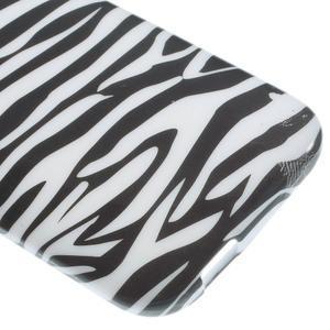 Gélový kryt pre HTC One mini 2 - zebra - 3
