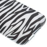 Gélový kryt pre HTC One mini 2 - zebra - 3/5