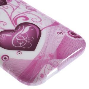 Gélový kryt pre HTC One mini 2 - srdiečka - 3
