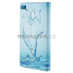 Peňaženkové puzdro Huawei Ascend P8 - vodný kvet - 3