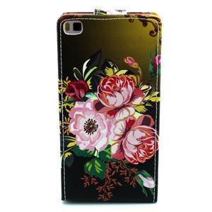 Flipové puzdro pre Huawei Ascend P8 - kvitnúce kvety - 3
