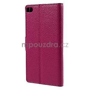 Peňaženkové kožené puzdro Huawei Ascend P8 - rose - 3