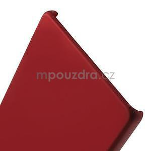 Plastový pogumovaný obal na Huawei Ascend P8 - červený - 3