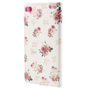 Peňaženkové puzdro Huawei Ascend P8 - roses - 3