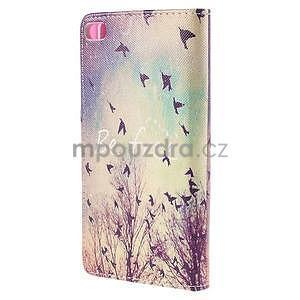 Peňaženkové puzdro Huawei Ascend P8 - vtáčiky - 3