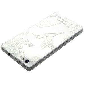 Transparentní gelový obal na Huawei Ascend P8 Lite - ptáček - 3
